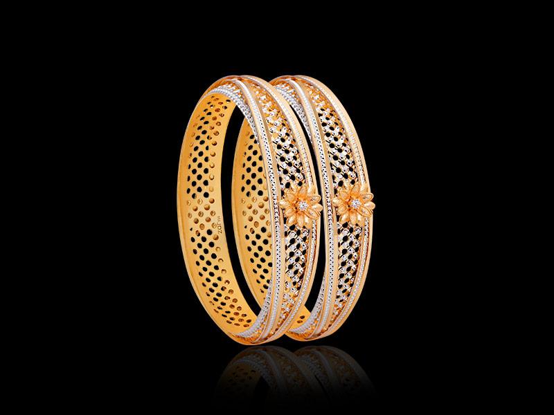 cz gold bangles designs