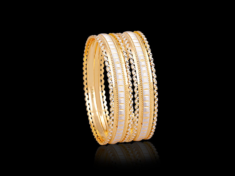 elegant & fancy gold bangle designs