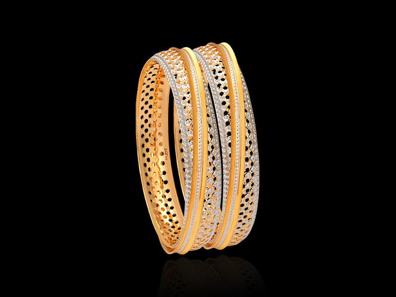laser cut gold bangles