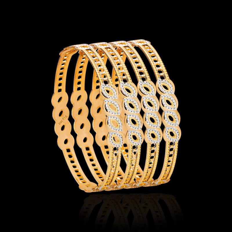 Cnc Bangles Gold Cnc Bangle Design Online Zar Jewels