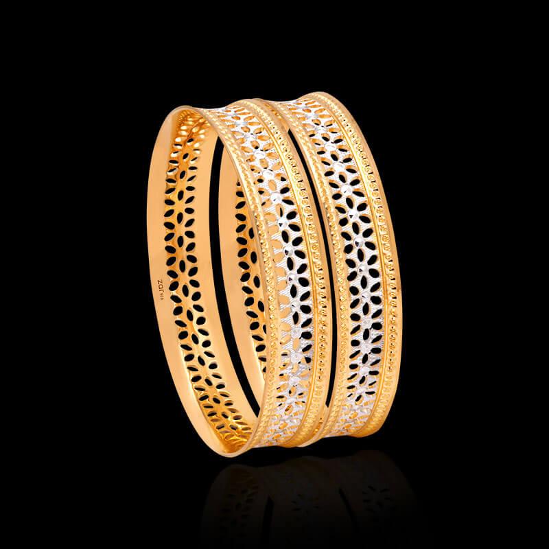 Cnc Bangles Gold Cnc Bangle Design Online Zar Jewels