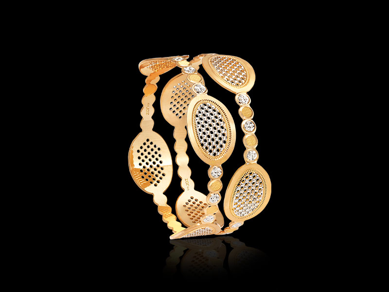 gold cnc bangle design