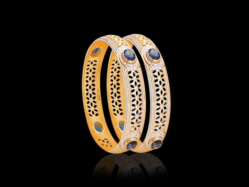 gold bangle designs with stones