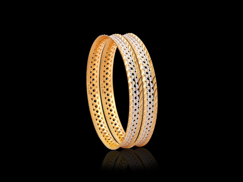 ethnic & pacheli gold bangle designs